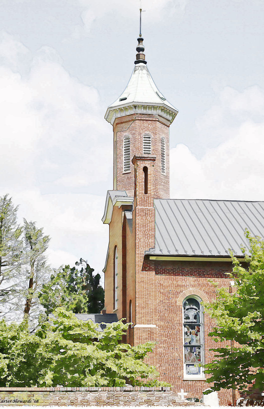 Parish History - Clarke Parish: Grace Church Tower